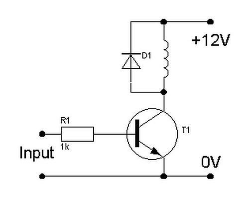 Схема однокаскадного усилителя на p-n-p транзисторе