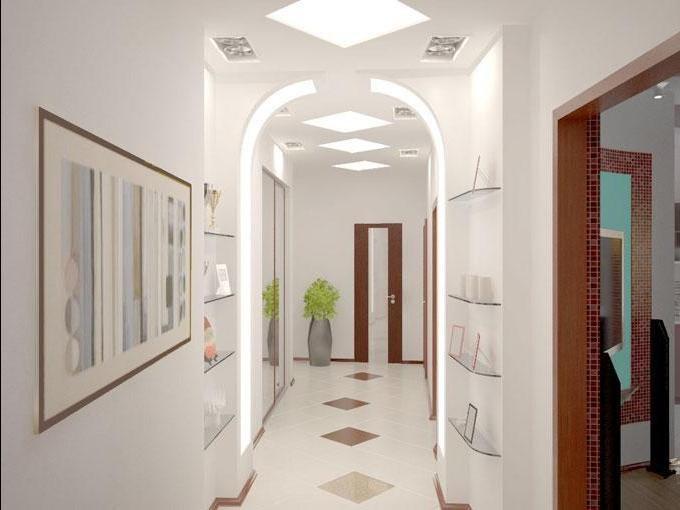 Дизайн узкого длинного коридора в квартире фото реальные