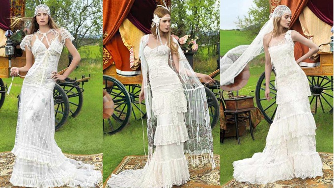 Как сшить платье в свадебном стиле 113