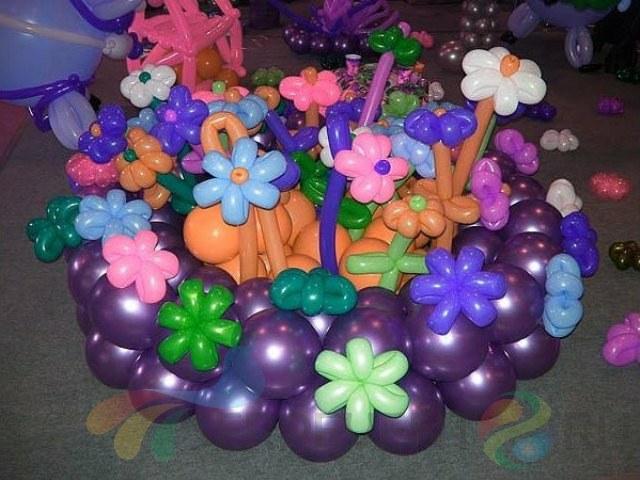 Как сделать цветок из шариков