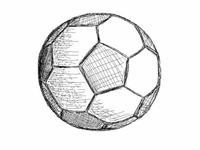 Как нарисовать футбольный мяч