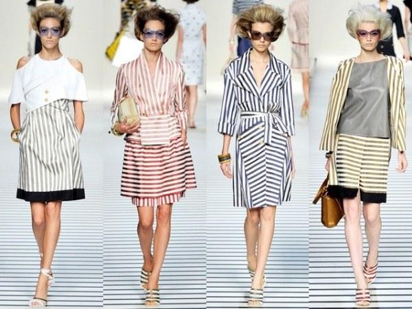 Модная одежда для девушек в морском стиле