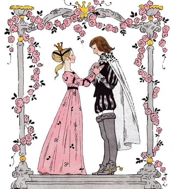Как нарисовать принцессу с принцем
