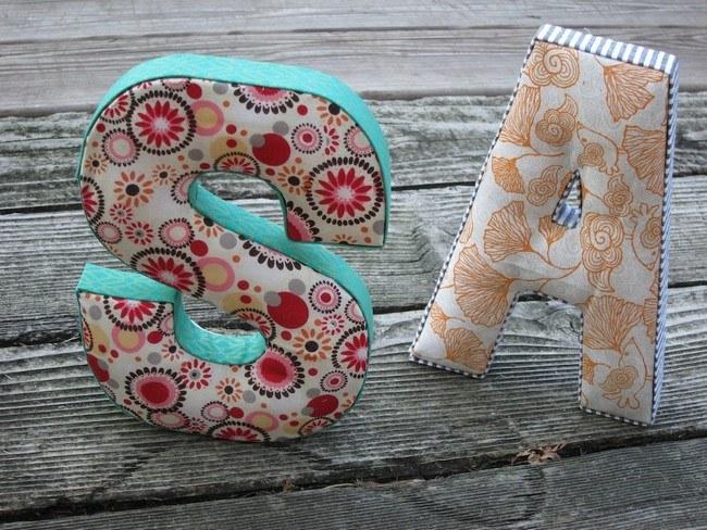 Текстильные объемные буквы