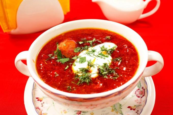 Классический рецепт южноукраинского борща