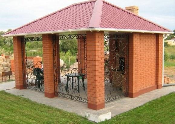 Беседка из кирпича - долговечная эстетичная постройка