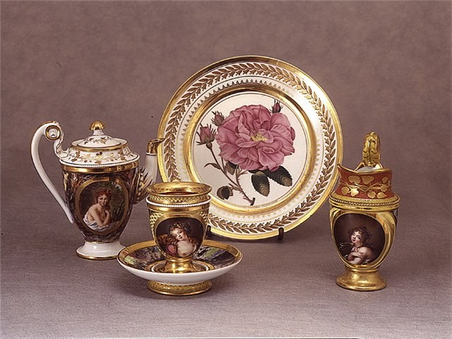 tableware of porcelain