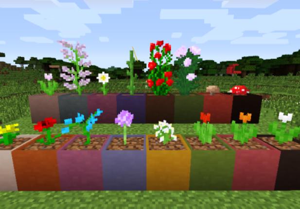 Горшки с цветами украсят игровой интерьер