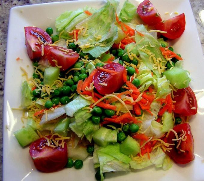 Овощные салаты с уксусом - полезные диетические блюда
