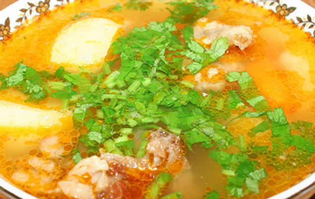 How to cook soup of pork