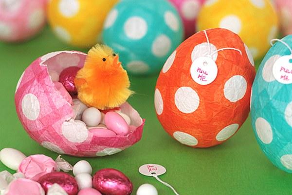 Пасхальное яйцо из цветной бумаги