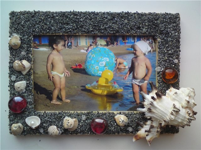 Frame made of shells