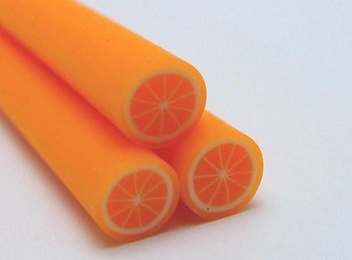 Как сделать дольки апельсина из полимерной глины