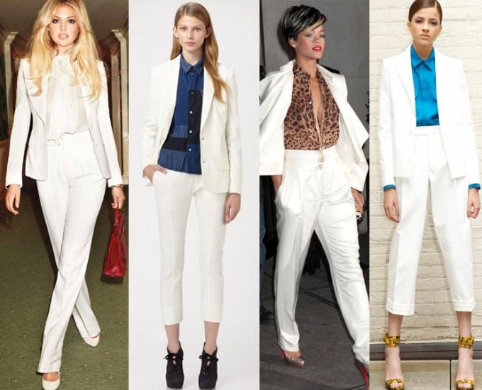 Какой цвет рубашки подойдет к белому костюму