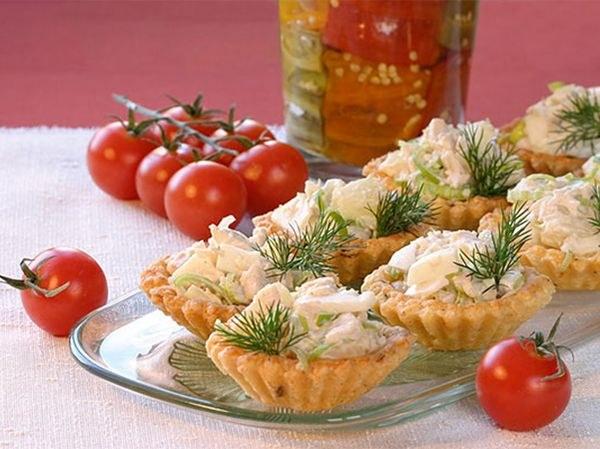 Тарталетки с сыром - вкусное украшение стола