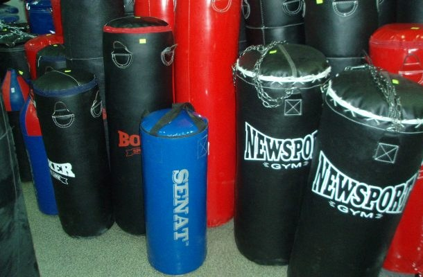A punching bag can be done by hand
