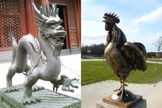 Восточный гороскоп совместимости: Петух и Дракон