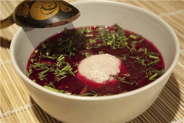 Cold soup of beet recipe