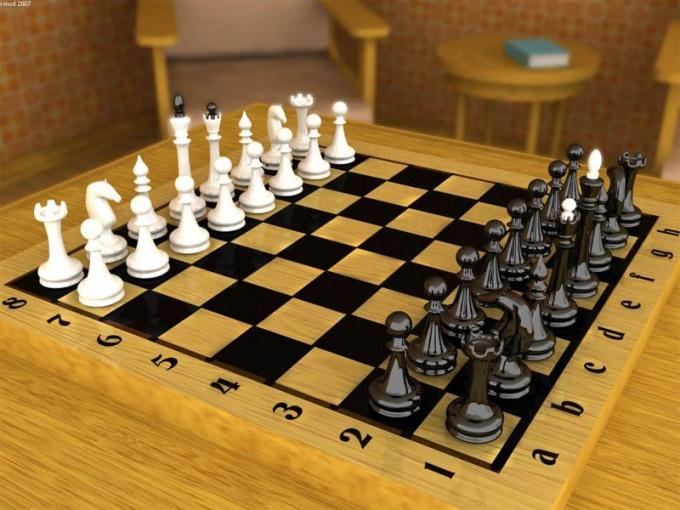 Обучение шахматам начинается с правильной расстановки на доске фигур и пешек