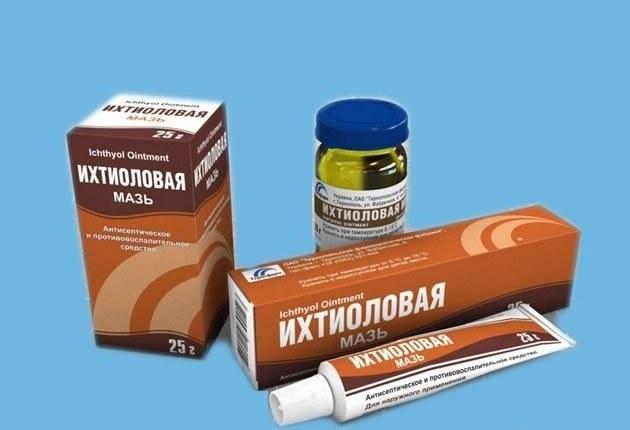 Ихтиоловая мазь при лечении фурункулов