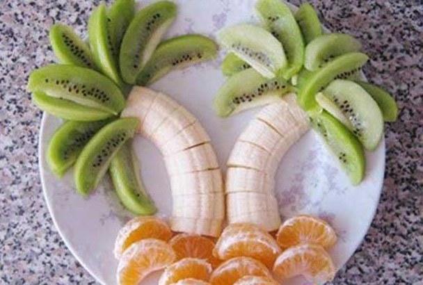 Детский салат из фруктов