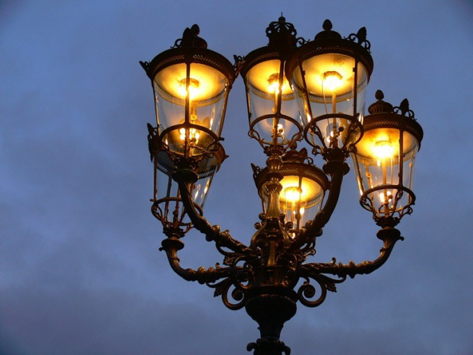 Electric lighting was first installed as a street