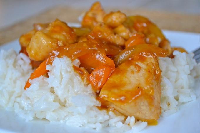 Курица с мандаринами: оригинальный вкус