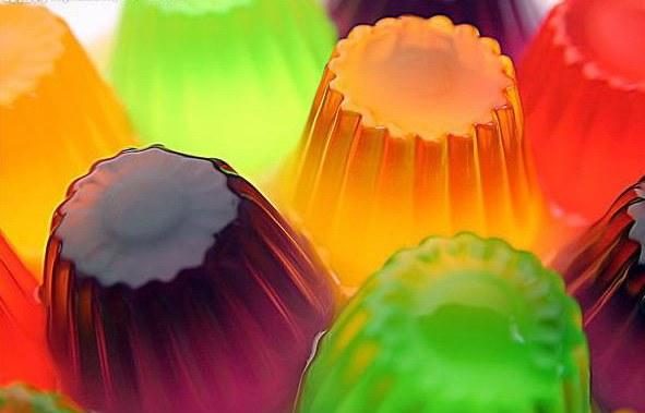 Желатин используется при изготовлении мармелада