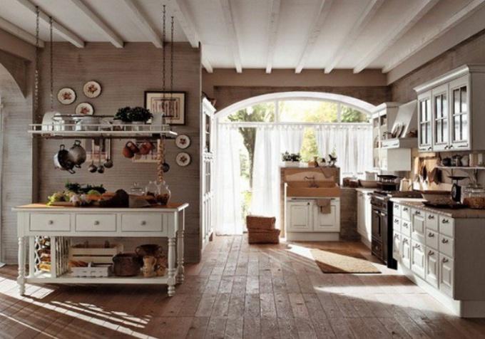 Дизайн кухни-студии в стиле прованс