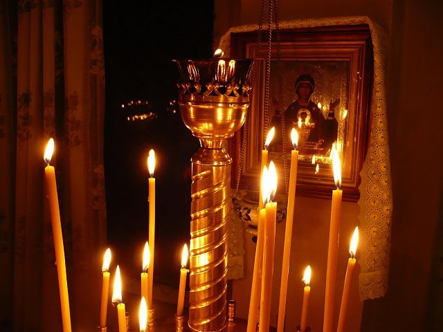 The candle is a visible expression of prayer