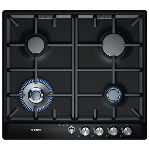 Panel gas stove with automatic ignition.