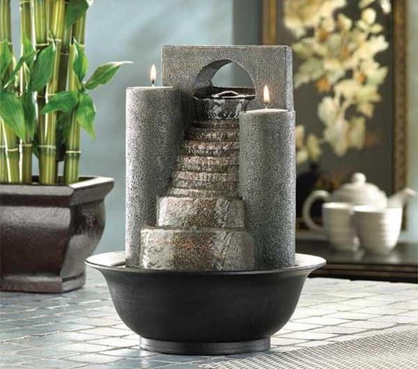 Основные виды домашних декоративных мини-фонтанов