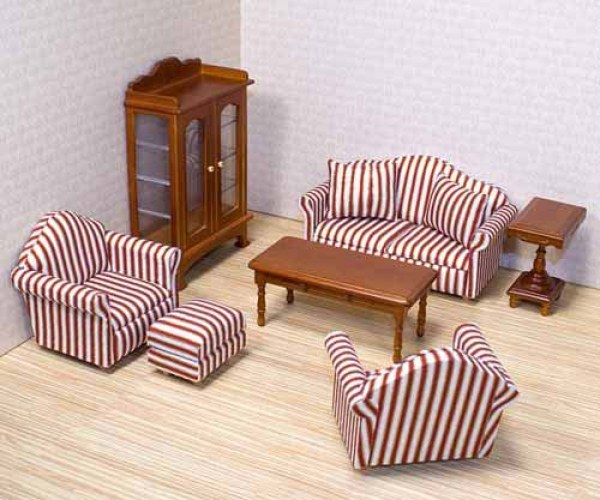 The sofa and chairs for dolls