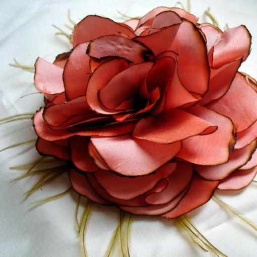 Цветы из материи своими руками мастер класс