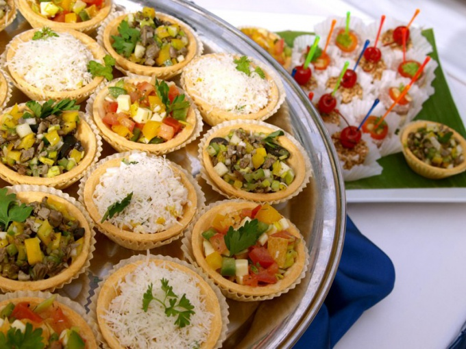 Filled with a variety of appetizers tartlets are the perfect decoration festive and everyday table