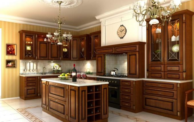 Фасады из массива для кухни: плюсы и минусы