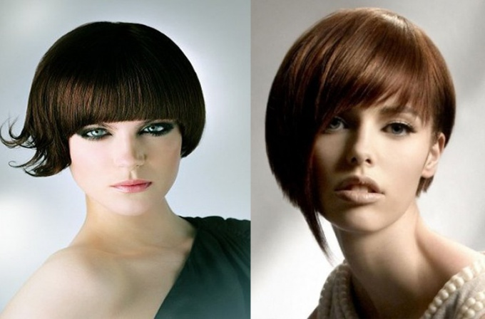 "Fashionable haircut ""cap"" on short hair"