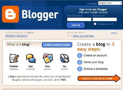 Как создать блог на Гугле