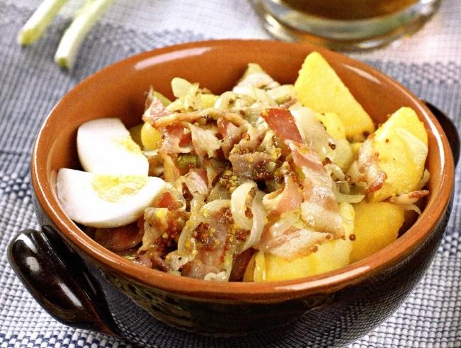 картофельный салат с беконом фото