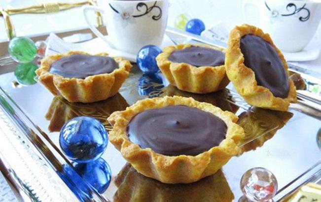 Мини-тарты с шоколадом