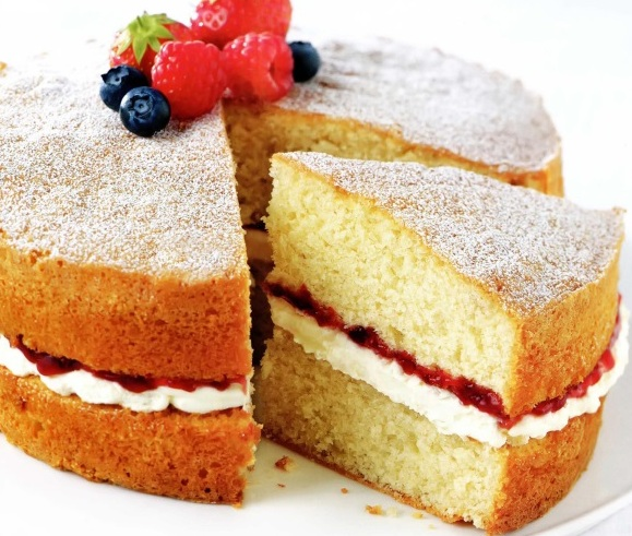 бисквитный торт с прослойкой фото