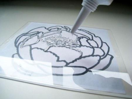 Нанесение рисунка гермиком