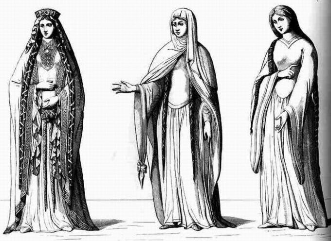 Какую одежду носили в 12 веке