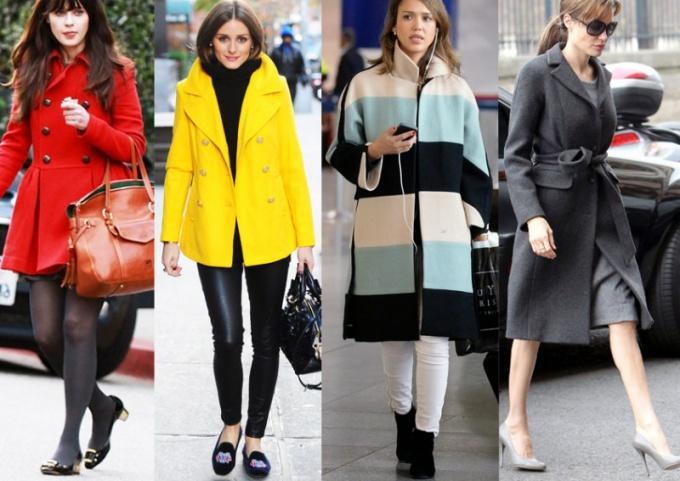 Какую обувь носить с пальто