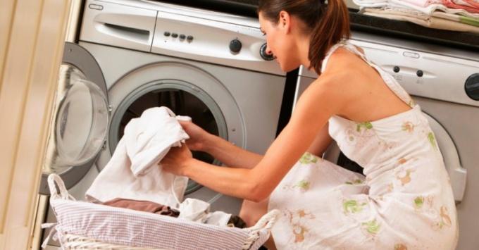стирка пледа в стиральной машинке
