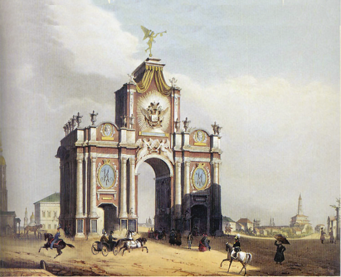 Французский художник Луи Жюль Арну, «Вид Красных ворот»
