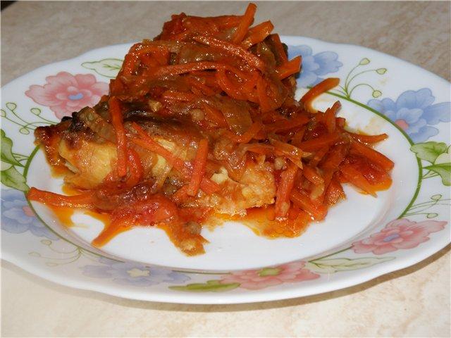 Рыба с картофелем в томатном соусе