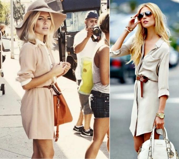 Как носить платья-рубашки