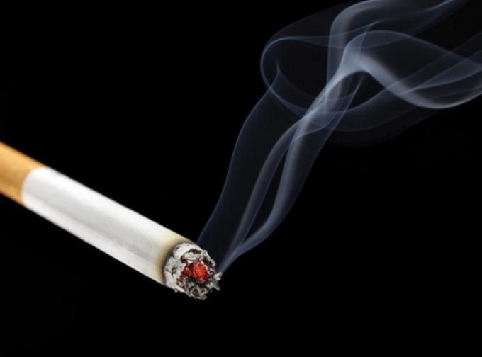 Дымящаяся сигарета имеет денежное значение