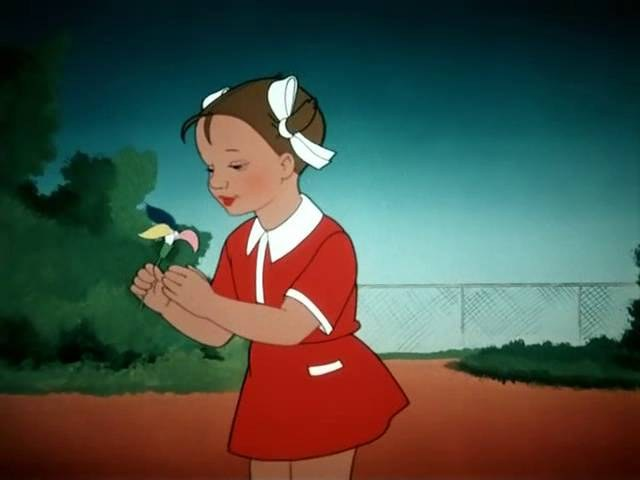 Сцена из мультфильма «Цветик-семицветик»